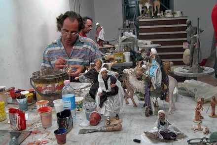 scultore di pastori a Palermo © flavio brunetti