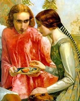 John Everett Millais, Lorenzo e Isabella da Messina (1849) particolare