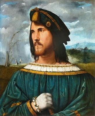Altobello Melone, portrait présumé de César Borgia (1513) © Archivio fotografico Accademia Carrara