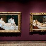 """Olympia"" de Manet (1863) et ""La Vénus d'Ubin"" de Titien (vers 1538) © Nicolas Krief"