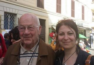 Romano Levantini oggi, con Marina Mancini. Foto di Andrea Ramello.