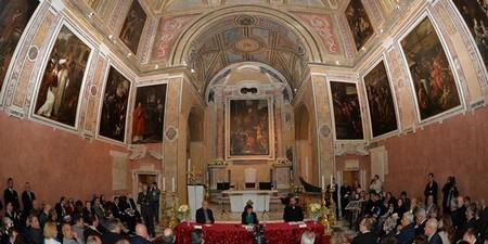 Interno del Duomo di San Procolo, cerimonia di inaugurazione