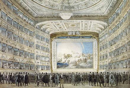 La Fenice nel 1837, originale al Museo Correr