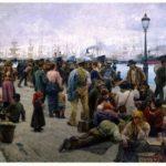 Angelo Tommasi, Gli emigranti, 1895, Galleria nazionale d'Arte moderna, Roma