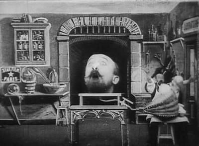Méliès, L'homme à la tête de cahoutchouc, Star film, 1901