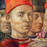 Firenze, Palazzo Medici Riccardi, Cappella dei Magi, Benozzo Gozzoli autoritratto, particolare.