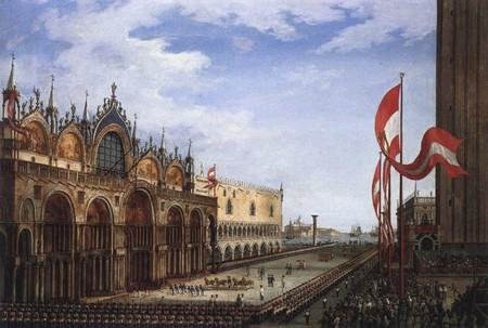 Ritorno dei cavalli a San Marco, di Vincenzo Chilone, Venezia