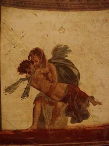 Eros e Psiche, affresco romano Pompei