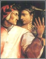 Di Vasari, Dante e Guido Cavalcanti (particolare)