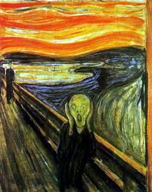 L'urlo, di Munch, 1893