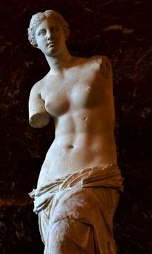 La Venere di Milo, al Louvre