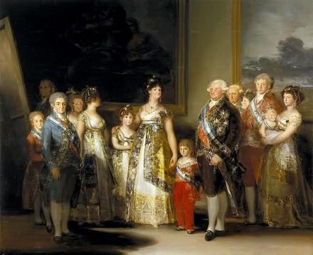 Francisco Goya - La famiglia di Carlo IV. Maria Luisa e il marito, Infanti di Spagna, sono a destra (1800-1801)