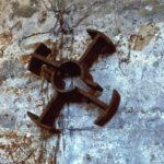 particolare 'Fotografia satellitare' 2002 - Ferro, sabbia, 180x100 cm