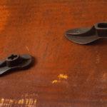 particolare 'Passi' 2002 - Ferro, ghisa, 180x60 cm