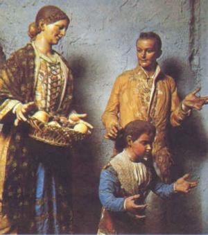 Particolare del presepe di Santa Maria in Portico