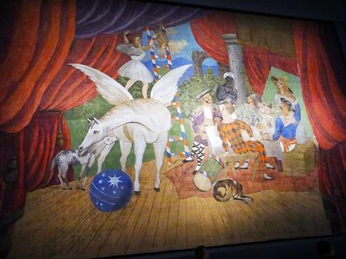 Pablo Picasso, Sipario per il balletto Parade , 1917 © Centre Pompidou, MNAM-CCI, Christian Bahier / Philippe Migeat © Succession Picasso by SIAE 2017