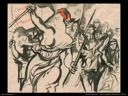 Renato Guttuso, Liberté, égalité, fraternité, 1950