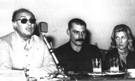 Rosi e Volonté in conferenza stampa.