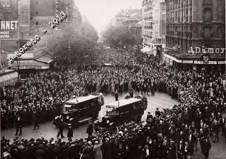 I funerali a Parigi dei fratelli Rosselli