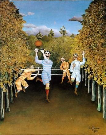 Giocatori di palla ovale, Henri Rousseau, 1908, Museo Guggenheim New York