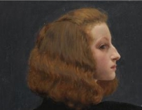 Volto di Adele da un quadro di G. Stevens.