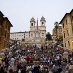Scalinata di Piazza d'Espagna a Roma - A destra la dimora di Axel Munthe