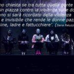 Foto di Sara Ciommei - Le attrici, da sinistra a destra: Melania Genna (Enza); Elisabetta Mazzullo (Zucco), Elena Gigliotti (Cicci), Carolina Leporatti (Lina); Demi Licata (Lea); Rachele Canella (Erika); Daniela Vitale (Teresa)