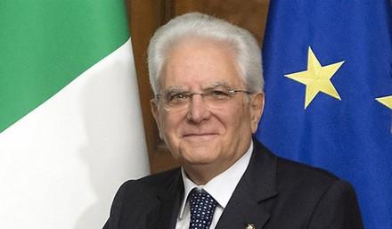 Sergio Mattarella, Il presidente della Repubblica.