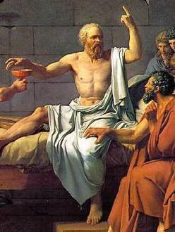 Socrate (part. de La mort de Socrate, quadro di J.-L. David, 1787)