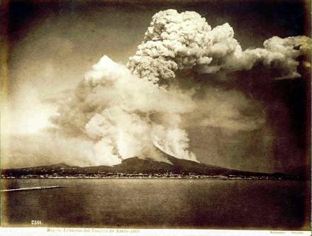 Sommer Giorgio (1834-1914) - Napoli - Eruzione del Vesuvio 26 Aprile 1872