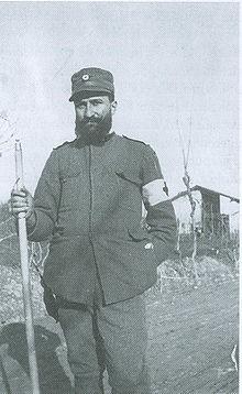 Il tenente medico Aldo Spallicci sul fronte di Podgora durante la prima guerra mondiale (1916