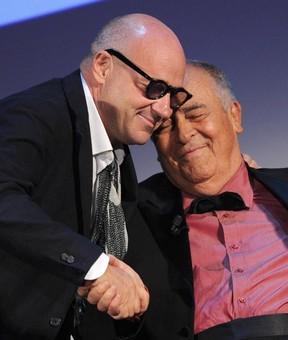 Il maestro Bertolucci e Gianfranco Rosi