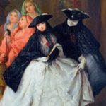 L'affiche de l'exposition. Pietro Falca dit Pietro Longhi (Venise, 1702-1785), détail du Charlatan, vers 1757. Huile sur toile, Toulouse, Fondation Bemberg
