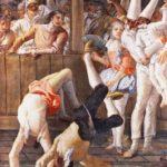 """Giandomenico Tiepolo, """"Pulcinella e i saltimbanchi"""" (1791-1793), Ca' Rezzonico"""