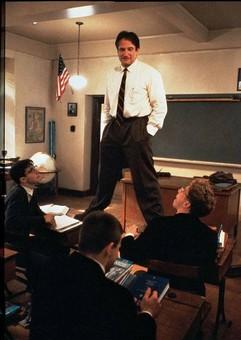 Robin Williams nella famosa scena del film