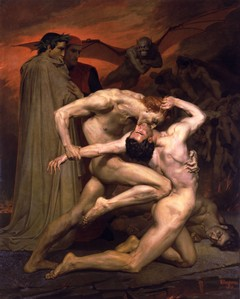 Dante e Virgilio nell'Inferno, di William Adolph Bouguereau - 1850