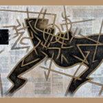 16. Paris 2007. Crayon couleur sur papier kraft. cm 160x120