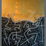 17. Paris 2008. Acrylique et Crayon sur carton. cm 160x180