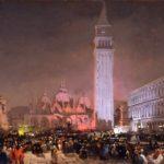 "Ippolito Caffi, ""Venezia: sera di carnevale"", 1860"