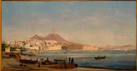 """Ippolito Caffi, """"Napoli, dalla Riviera di Chiaia"""", 1843, Fondazione Musei Civici di Venezia"""
