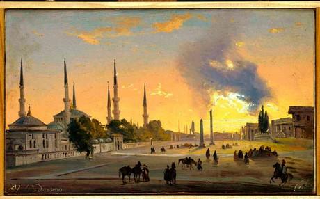 """Ippolito Caffi, """"Costantinopoli: l'Ippodromo"""", 1843, Fondazione Musei Civici di Venezia"""