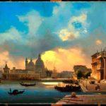 Venezia, Il molo al tramonto, 1864