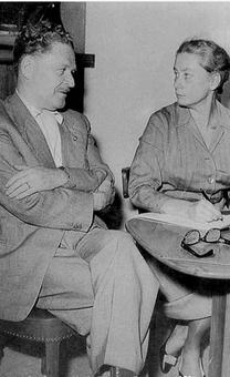 Il poeta Nazim Hikmet e Joyce Lussu, Stoccolma 1958