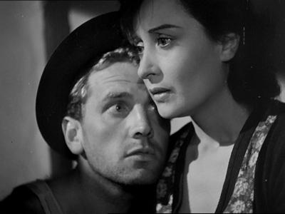 Girotti e Calamai in Ossessione di Visconti. Foto ©Centro Sperimentale di Cinematografia