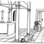 """Figura 2 F. Colonna, """"Hypnerotomachia Poliphili"""", Venezia, Aldo Manuzio, 1499, Polia trascina Polifilo."""